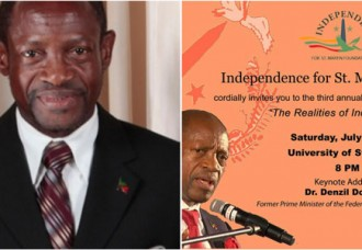 Dr. Denzil Douglas to deliver Emancipation Day Lecture in St. Martin on July 1.