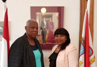 Minister Plenipotentiary Doran-York recently met with Honorable Vice Chair of the Council of Advice, Mrs. Mavis Brooks Salmon.