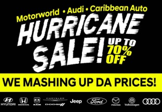 Motorworld Group Hurricane Car Sale Offers Once In A Lifetime Deals With Up To 70% Discounts On All Brands.