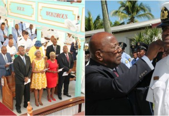 Prime Minister Marlin attends Church Service &  Promotion Ceremony of the VKS.