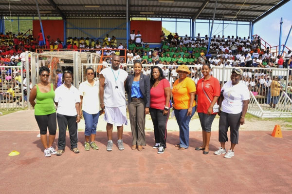 Minister Jacobs visited last week Raoul Illidge Sports Complex after school program/sports day event.