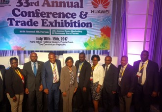 Minister of TEATT leads delegation to Caribbean Telecom Conference.
