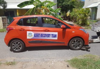 The Asset Recovery Team Sint Maarten seized a vehicle in Belvedere on Anna's Hope Estate #39, Wednesday morning, August 15, 2018 in the ongoing PEN investigation.