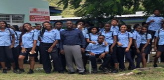 MP Egbert Jurendy Doran visits Milton Peters College Encourages students of all schools on the Island to strive for excellence.