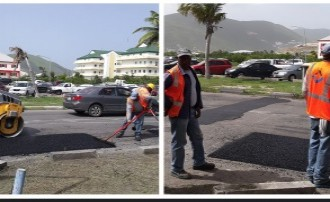 Road Paving/Patching Project progressing.