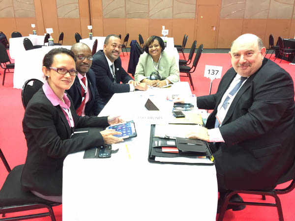 SXM Delegation At Meeting With Mark Ellinger, BlueSky Airlinesu0027 Chief  Commercial Officer. (SXM