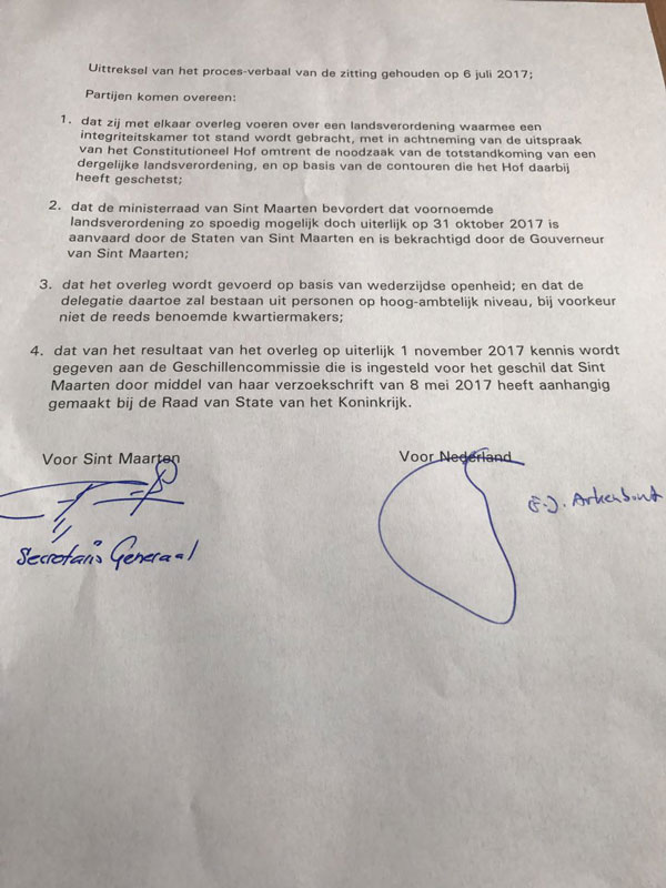 St Martin News Network Agreement Signed By St Maarten And